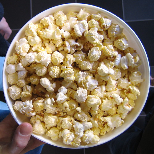 Jed's SMALL serving of popcorn