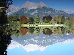 reverse view IV (:birke:) Tags: ritzensee saalfelden lake ritzen autumn fall reverse mountain mirror trees upsidedown reflection geotagged geolat47417692 geolon12847395 interestingness175 explore17oct05 austria i500 interestingness172 interestingness139