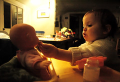 Open wide (toyfoto) Tags: toddler dolls pcss utata babyofmine pretending 22months weeklyrecreation tc27teach utataland utatalandeat utatatoys