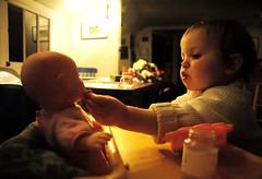 Open wide (toyfoto) Tags: toddler dolls pcss utata babyofmine pretending 22months weeklyrecreation tc27teach utataland utatalandeat utatatoys