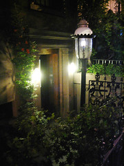 Greenwich Village  Img_0935 (Lanterna) Tags: lighting street newyork lamp night garden glow townhouse patio entry lanterna brownstone greenwichvillage lyre canonpowershota75