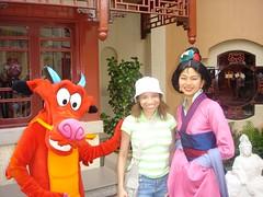 Me, Mulan, and Mushu.