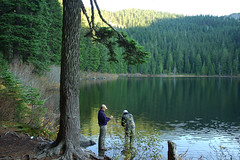 A little morning fishing (Mark Griffith) Tags: overnighter campout backpack hike hiking scouts youngmen acitivity olallielake kodyhayes trevordowns fishing