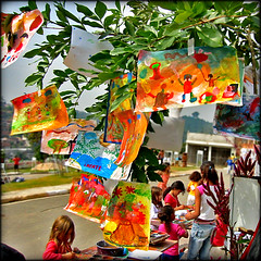 Tree of Hope (carf) Tags: children child kid kids boys youth beijaflor hummingbird community esperana hope brasil brazil social poverty impoverished underprivileged favela shanty education educational development prevention art artist painting altruism forsakenpeople
