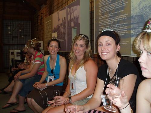 wine tasting at audrey wilkinson vineyard  jane  alice  anna and callie