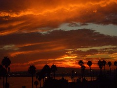 Firesky (Hayden Yates) Tags: ocean california sunset sky seascape beach fire long firesky