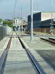 light rail tracks, October 23, 2005