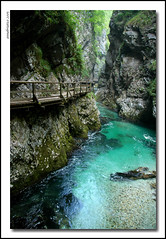 Trekking in the Vintgar Canyon (anbri22) Tags: water river fiume canyon slovenia gorge acqua anbri vintgar gole slovenjia removedfromnikkorfortags