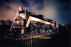 1944 CNR Steam Locomotive  6069 Sarnia (Freddie jr) Tags: nightphotography ontario canada film train sarnia slidefc1