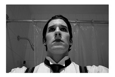 sometimes, the true self can only be seen through an act (boristheblade) Tags: blackandwhite bw selfportrait that bathroom for long narcissism tie things we why suspenders must busterkeaton damfino iwillneverbethegeneral dreamsdonotlastforever theendofhappiness sometimesthetrueselfcanonlybeseenthroughanact thecelebrationmustend areimpossible