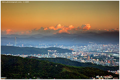 mountain edge in Taipei basin @ pm18:32 (*dans) Tags: sunset mountain taiwan basin taipei taipei101 peitou