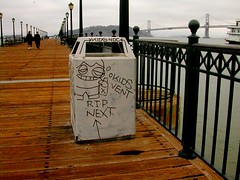 (petebeck) Tags: kids vent rip next graffiti tagged garbagecan pier9 sf baybridge
