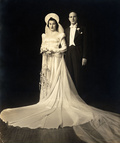 My Grandparents on their Wedding Day