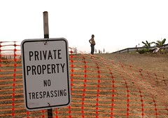 trespassing can lead to serious consequences (jen clix) Tags: notrespassing private constructionsite cliff friend pregnant capitola california profile safetyorange