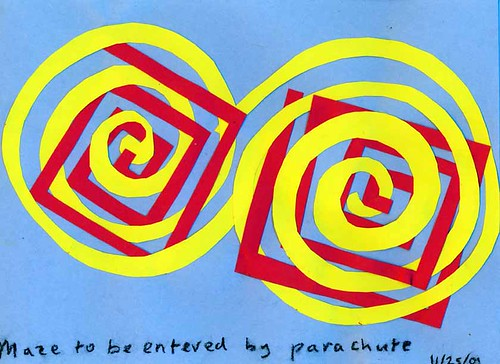 Maze to be Entered by Parachute