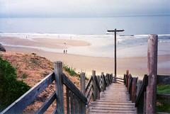 pismo beach, california (ja cour) Tags: ocean california vacation favorite beach weather stairs pacific tide horizon goodbye pismobeach