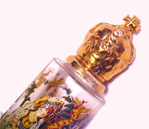 Close Up of Old 1940s or 1950s Perfume Bottle
