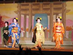 Finale: The song of Gion-Higashi (vfowler) Tags: blue 15fav orange woman girl yellow topv111 japan 1025fav 510fav dance vimeo topv333 kyoto theatre traditional topv999 culture maiko geiko geisha    gion topv666       666v6f vimeo:id=49497