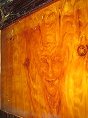Devil in The Grain (JakeBjeldanes) Tags: wood smile smiling pareidolia lucifer dragon sandiego grain 666 horns satan devil diablo apophenia imp leviathan plywood hillcrest alibi morningstar diable adversary beelzebub tempter belial abaddon oldnick sonofthemorning accuserofourbrethren uncleanspirit littlehorn
