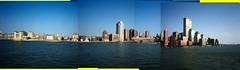 New York City - 09 September 2001 (andrewlmurphy) Tags: nyc worldtradecenter olympus twintowers stylusepic 9112001 stitchedpanorama norwegiansea