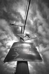 Saint Anthony's Chapel (sahst23) Tags: deleteme5 deleteme8 sky bw cloud deleteme deleteme2 deleteme3 deleteme4 deleteme6 deleteme9 deleteme7 sign streetlight saveme4 saveme5 pittsburgh saveme saveme2 saveme3 deleteme10 been1of100 perspective wideangle personalfavorite dramaticsky 11mm allrightsreserved saintanthonyschapel crosswalksign interestingnesspage1 unusualmood aboveeyelevel sbp2005 mypersonalfavs copyrightstephenahall exposurenetwork nikonstunninggallery