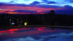 Reflected Sunset (Soyza) Tags: urbanlights reflection lights sunset sky 169 widescreen antsangle