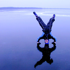frozen lake -- upside down (Lumatic) Tags: blue winter boy wild lake playing reflection ice nature topf25 topv111 kids digital children fun photography mirror frozen photo kid cool topf50 topv555 topv333 topf75 flickr 500v20f 500plus photos action topv999 picture down icon clear explore 500v50f freeze simplicity online topv777 handstand senses value satisfaction simple iconic brandenburg digitalphoto pleasure upside headstand digitalphotos values sense pleasures freezed kidshots simpleness crayzy blossin friedersdorf kidswanttohavefun top20kidhallfame 1000v50f photosonline photoonline elementariness frozeninaction lumatic