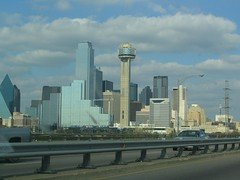 Dallas, Texas Skyline from I-35 Eastbound