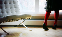 thursday afternoon (seventytw0dpi) Tags: red tights hardwood shoes chair window kara xolo mycondo calgary lomo saturated contrast