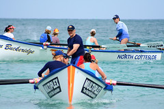 Coming in (North Cottesloe Open Water Swim) (sengsta) Tags: northcottesloe openwater beach surfboat