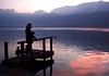 Abendstimmung am See (_Marcel_) Tags: travelog sunset sonnenuntergang see lake lac lacdannecy water wasser steg top20fav