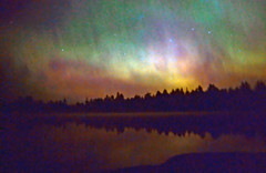 Nothing like a dose of aurora borealis for some needed color! - by Steve took it