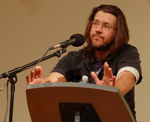Photo of David Foster Wallace (Steve Rhodes/flickr)