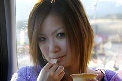 Reina eating Milk Land Soft Cream