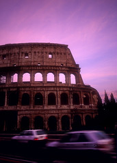 Colisseum (Zeb Andrews) Tags: travel sunset italy 15fav rome color film beautiful 35mm wow cool great slide historical colisseum fujivelvia50 nikonfm2n bluemooncamera zebandrews zebandrewsphotography