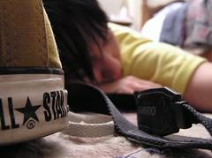 P1010185 (Sheep Chef) Tags: orange star sleep olympus rubber sneakers converse rug heel bangs afterschool shoelaces seams