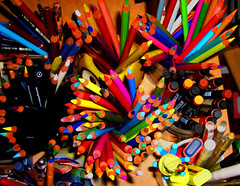 Colores / Colors (enkartist) Tags: estudio colores taller penpencilbrushink texturas 100club puntas lpices 100vistas encartist ishkolorkraft