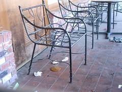 Patio Toilet (CuriousDaniel) Tags: restaurant auction toilet gross poop disgusting tonyromas diarrhea westauction