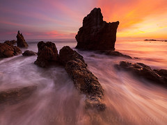 Salty Watercolors (Floris van Breugel) Tags: ocean california sunset sea seascape color beach nature water landscape coast rocks waves searchthebest dynamic el stacks matador citrit flickrclassique
