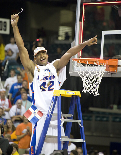 For some reason I don't think Horford will be this happy tonight facing an angry ACC crowd...