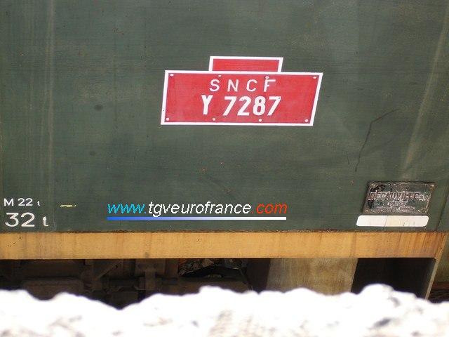 La plaque d'identification et la plaque constructeur du Y7287