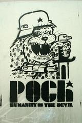 Poch stencil (SpUtNik 23 -RUR und MKZ) Tags: street brussels art stencil belgium belgique bruxelles steetart poch