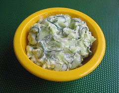 Quick cucumber salad