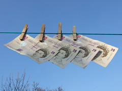 Money Laundering (Sparks68) Tags: sky money elizabeth notes line queen laundry pegs washing currency 20 moneylaundering interestingness295 i500 msh0407 msh04076 msh0808 bigpicture2008 msh080817