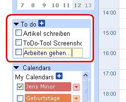 ToDo Google Calendar