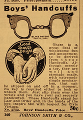 Handcuffs for Young Tuffs (King Power Cinema) Tags: toys sm boyscouts bondage scouts catalogue handcuffs 1929 mailorder novelties scoutmaster johnsonsmith johnsonssmith