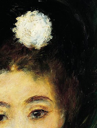Renoir, Portrait of a Young Woman in Black (detail) 1876