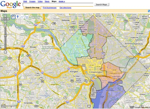 DC Wards Google Map