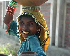 thar water girl (altamash) Tags: pakistan people water girl women desert nomad pakistani sindh thar paki watergirl akexhibit