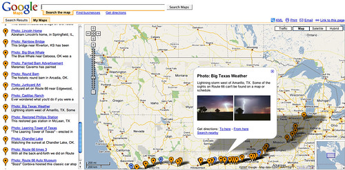 Google Map of Route 66